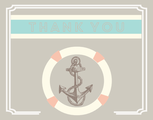 Anchor & Buoy Bridal Shower Thank You Cards