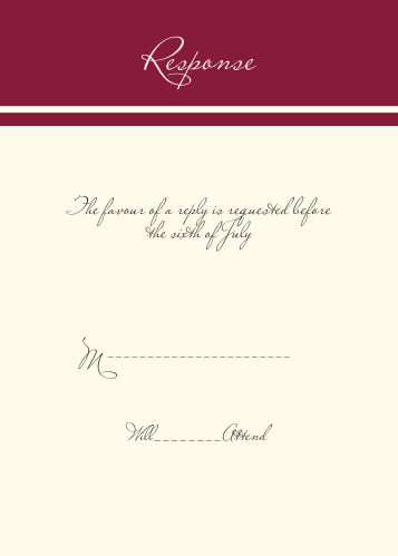 Traditionally Formal RSVP Cards
