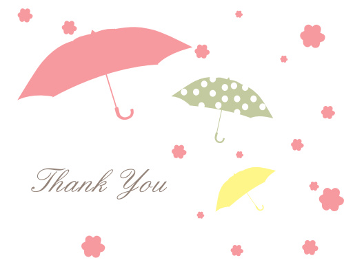 April Showers Bridal Shower Thank You Cards