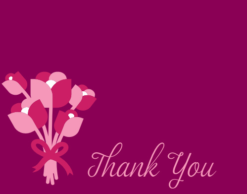 Blossoming Bouquet Bridal Shower Thank You Cards