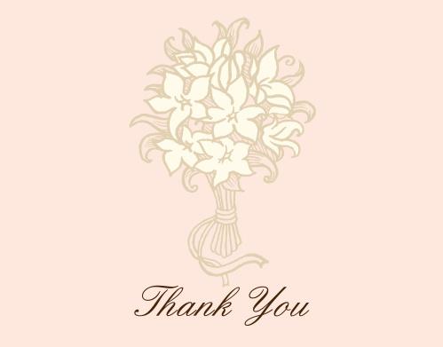bouquet watermark bridal shower thank you cards