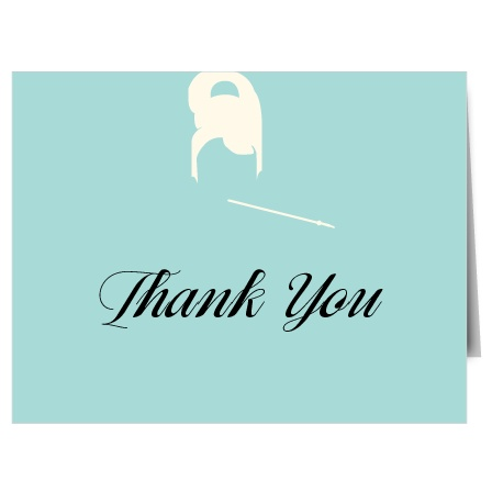 Classic Breakfast Bridal Shower Thank You Cards