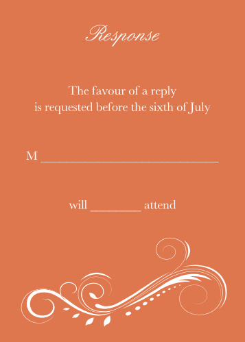 Streamlined Scroll RSVP Cards