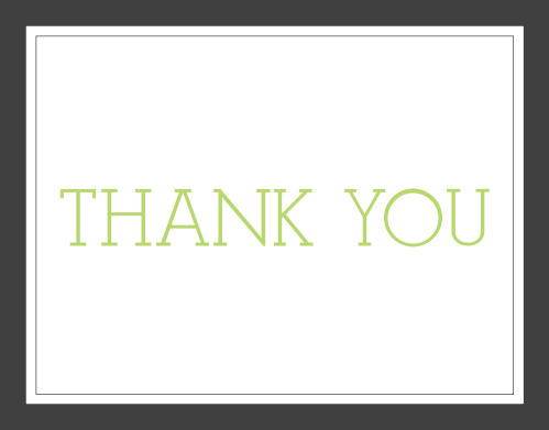 Classy Borders Bridal Shower Thank You Cards