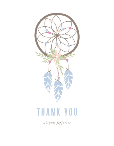Dream Catcher Bridal Shower Thank You Cards