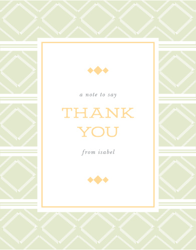 Poncho Fiesta Bridal Shower Thank You Cards