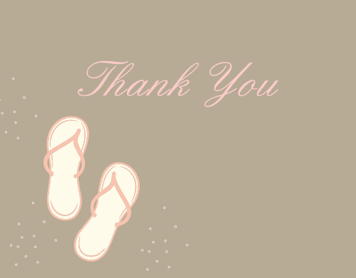 Flip Flop Bridal Shower Thank You Cards