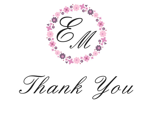 Flower Wreath Bridal Shower Thank You Cards