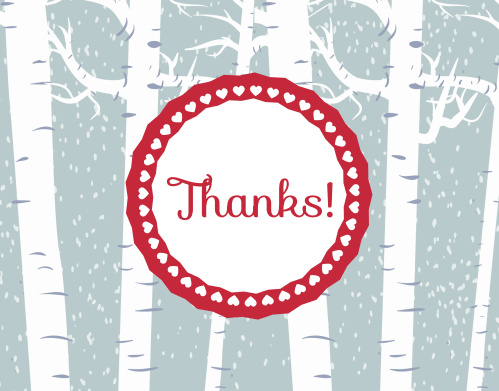 Snowy Forest Bridal Shower Thank You Cards