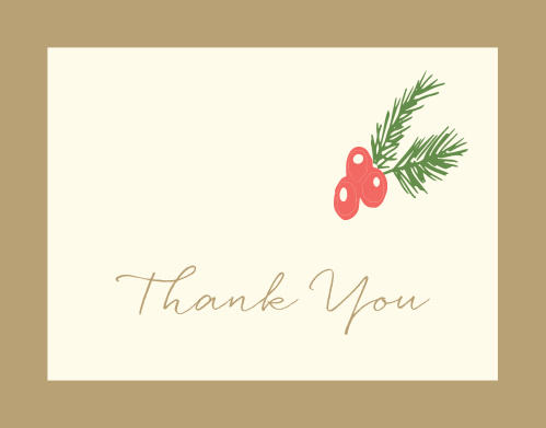 Holly Bridal Shower Thank You Cards
