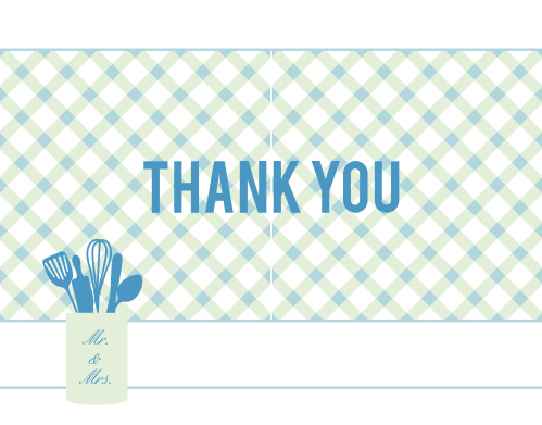 textile kitchen bridal shower thank you cards