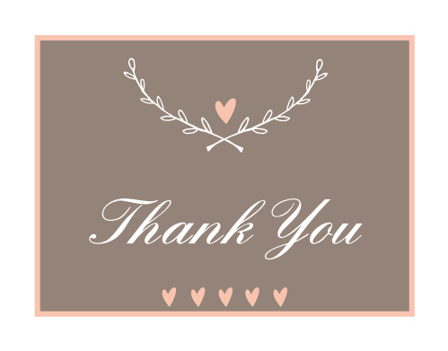 Love Branch  Bridal Shower Thank You Cards