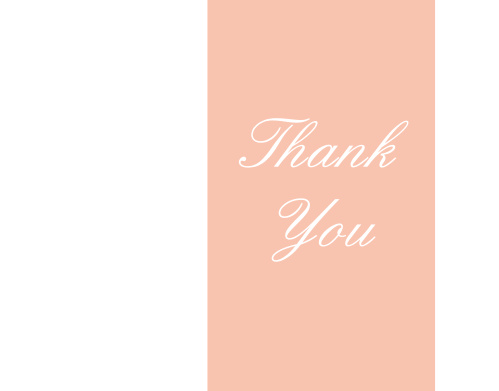 photo banner bridal shower thank you cards