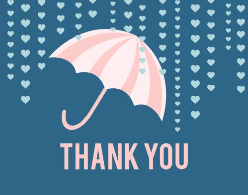 Umbrella Bridal Shower Thank You Cards