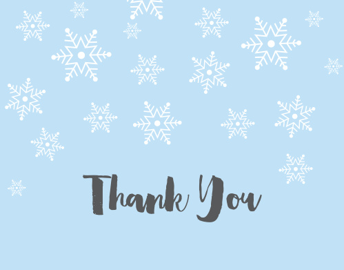 Winter Snowflakes Bridal Shower Thank You Cards