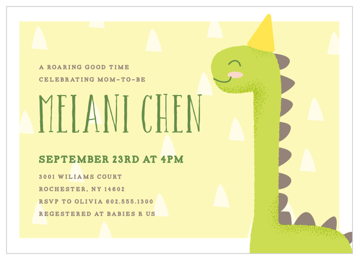 picture relating to Free Printable Dinosaur Baby Shower Invitations identify Dinosaur Kid Shower Invites - Sport Your Coloration Structure