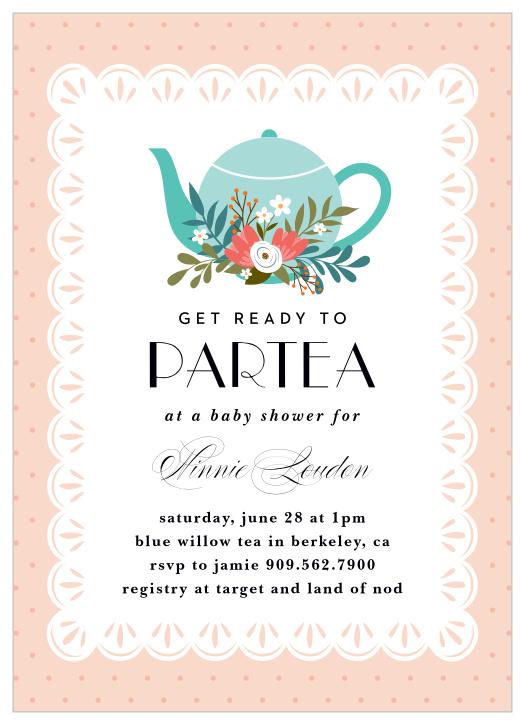 High Tea Shower Invitations High Tea Invitations High Tea Invitation Watercolor Bridal Shower Invitation