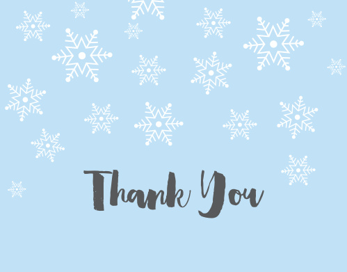 Snowy Winter Baby Shower Thank You Cards