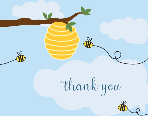 What Will It Bee Baby Shower Thank You Cards