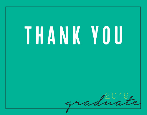 Photo Year Graduation Thank You Cards