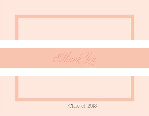 Photo Stripe Graduation Thank You Cards