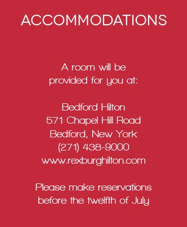 The Royal Crown Accommodation Cards