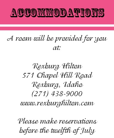 The Country Accommodation Cards