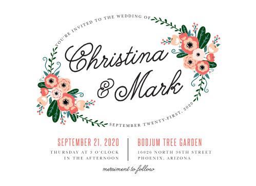 Botanical Love Wedding Invitations