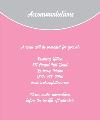 Modern Half Circle Accommodation Cards