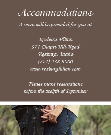 The Happy Couple Accommodation Cards
