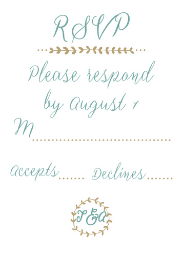 Back to Nature RSVP Cards