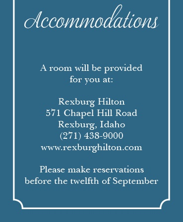 The Lace Doily Accommodation Cards
