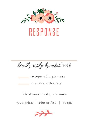 Botanical Love Response Cards