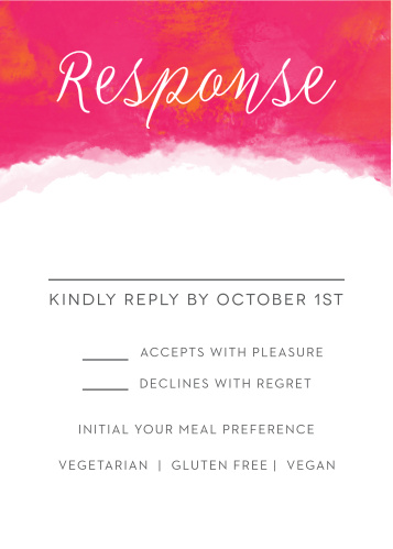 Splashy Watercolor Response Cards