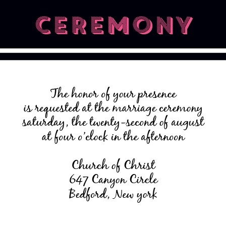 The Country Ceremony Cards