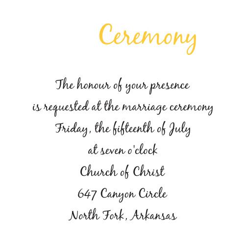 Summer Daisy Ceremony Cards