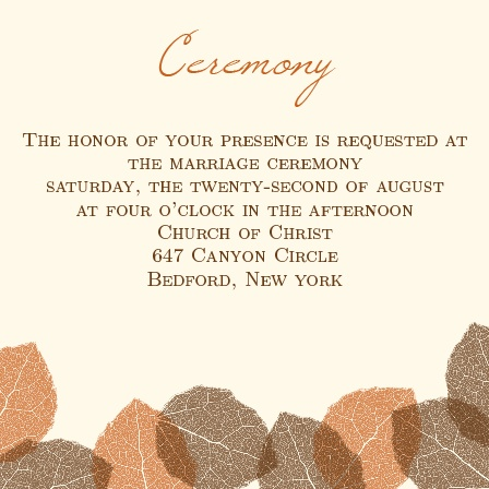 The Autumn Leaves Ceremony Cards