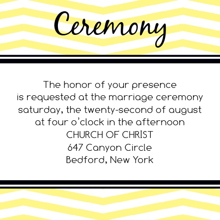 The Chevron Ornamental Frame Ceremony Cards