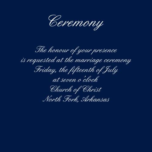 Elegant Spires Ceremony Cards