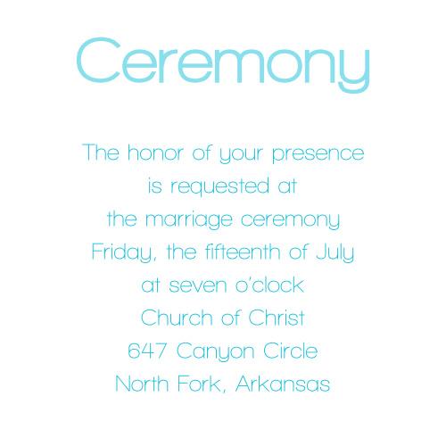 Lovely Photo Ceremony Cards