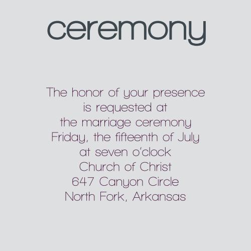 Elegant Overlap Ceremony Cards