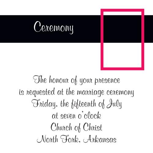 Fading Photo Ceremony Cards