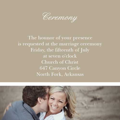 Happy Couple Ceremony Cards