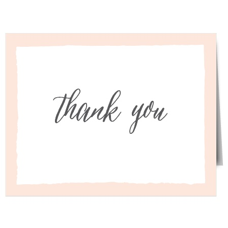 Painted Border Thank You Cards
