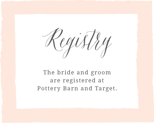 Painted Border Registry Cards
