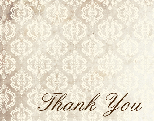 Vintage Honors Graduation Thank You Cards