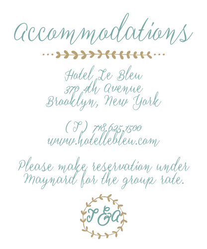 Back to Nature Accommodation Cards