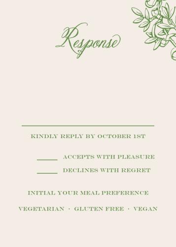 Classical Gardens Response Cards