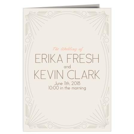 The Framed Art Deco Wedding Program