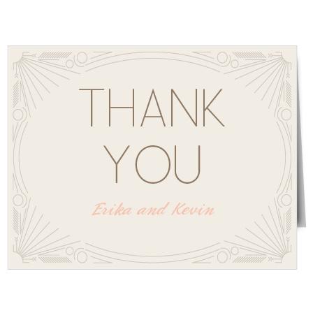 The Framed Art Deco Thank You Card